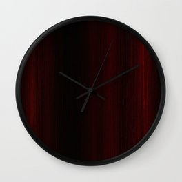 Algorithmic Linen Pure Black and Red Wall Clock