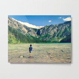 Avalanche Lake, Montana Metal Print