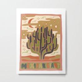 Cactus Tarot Cards- Mexican Giant Metal Print