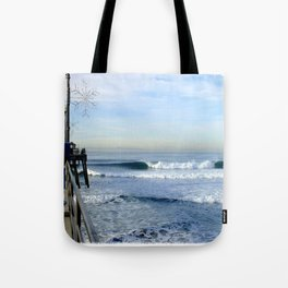 Christmas Swell With Jaggy Edges Tote Bag