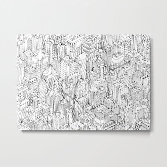 Isometric Urbanism pt.1 Metal Print