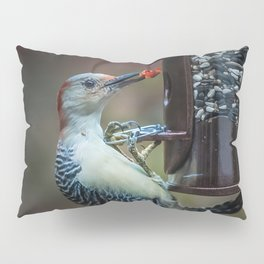 Red-bellied Woodpecker and fruit Pillow Sham