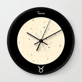 Taurus - Black Wall Clock