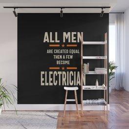 Men Electrician Job Title Gift Wall Mural