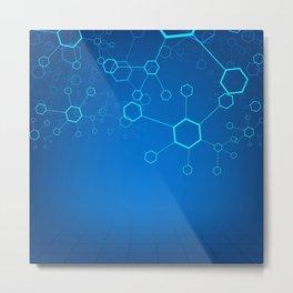 molecules Classic Medicine Medical Terms Comprehensive Study Medical blue Metal Print