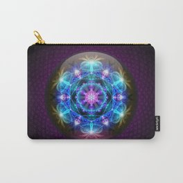 Fibonacci Flower Mandala Carry-All Pouch