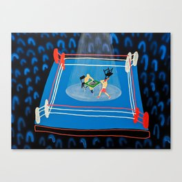 The Mystery of Chessboxing Canvas Print