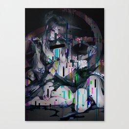 Sad anime aesthetic - no more love Canvas Print