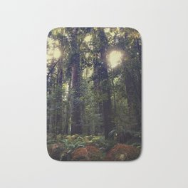 Sunrays in the Redwoods Bath Mat