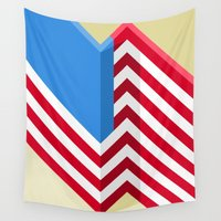 flag Wall Tapestries featuring Flag by Ryan Winters
