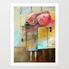 Casual Acquaintance Art Print
