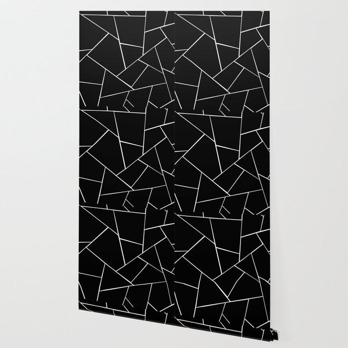 Black White Geometric Glam 2 Geo Decor Art Society6 Wallpaper