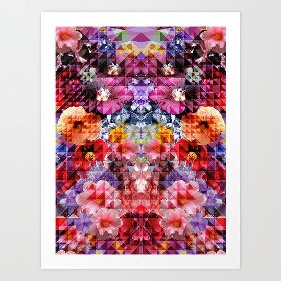 Crystal Floral Art Print