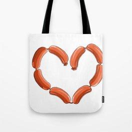 Sausage Heart Party Yummy Oktoberfest German Tote Bag