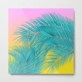 Summer Palm Leaves Metal Print