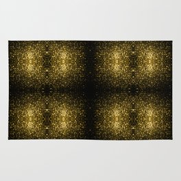 Beautiful Yellow Gold sparkles Rug