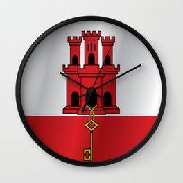 Flag of Gibraltar Wall Clock