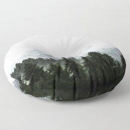 The Way Through The Woods Floor Pillow