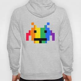 Rainbow Space Invader Hoody