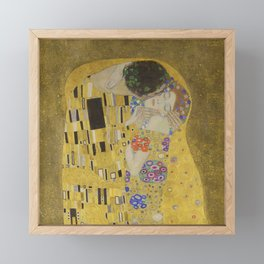 The Kiss Framed Mini Art Print
