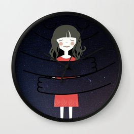The Universe loves You Wall Clock