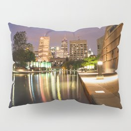 Indianapolis Skyline Pillow Sham