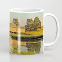 cape cod Mugs featuring Cape Cod Eastham Eventide by Brooke T Ryan Photography