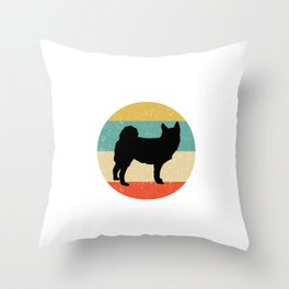 Norwegian Buhund Dog Gift design Throw Pillow