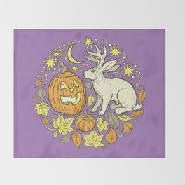 Halloween Friends | Spooky Brights Palette Throw Blanket