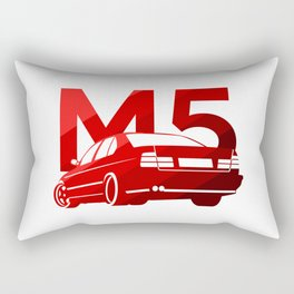 BMW E34 M5 - classic red - Rectangular Pillow