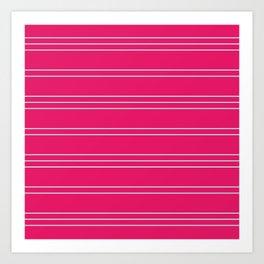 Simple Lines Pattern bp Art Print