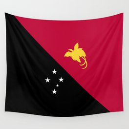 Papua New Guinea flag emblem Wall Tapestry