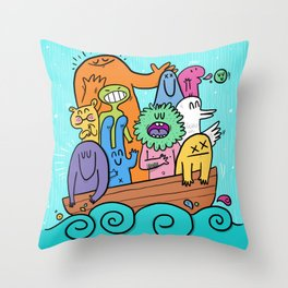 BOAT Throw Pillow