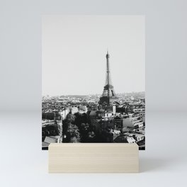 Paris City Sky // Eiffel Tower City Landscape Photography Shot from the top of Champs Elysees France Mini Art Print