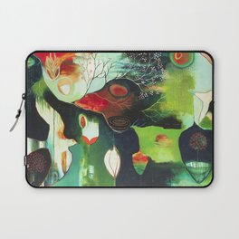 """Inner Whisper #2"" Original Painting by Flora Bowley Laptop Sleeve"