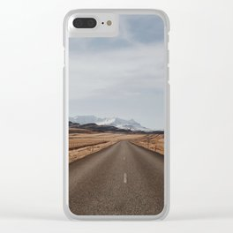 Iceland road Clear iPhone Case