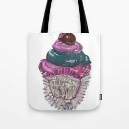 Pink and Blue Cupcake Tote Bag