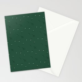 Floral Abstract Dark Green #emerald #green #home #decor #kirovair #holidays #floral #pattern Stationery Cards