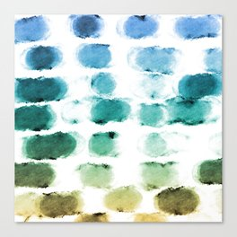 On the Beach Watercolor Painting Abstraction Canvas Print