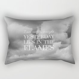 yesterday lies in the flames (I) Rectangular Pillow