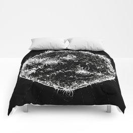 Large Sun Print, black & white solar design by Little Lark Comforters