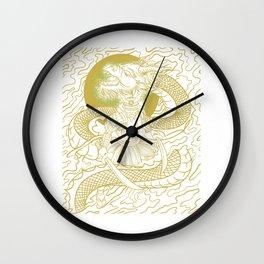 Vintage Japanese Bushido Knight Gift Samurai Warrior Product Wall Clock