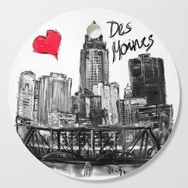 I love Des Moines Cutting Board