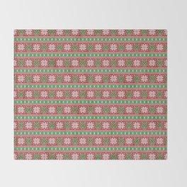 Christmas weed sweater Throw Blanket