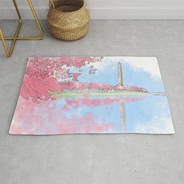 Cherry Blossom - Washington Monument Rug