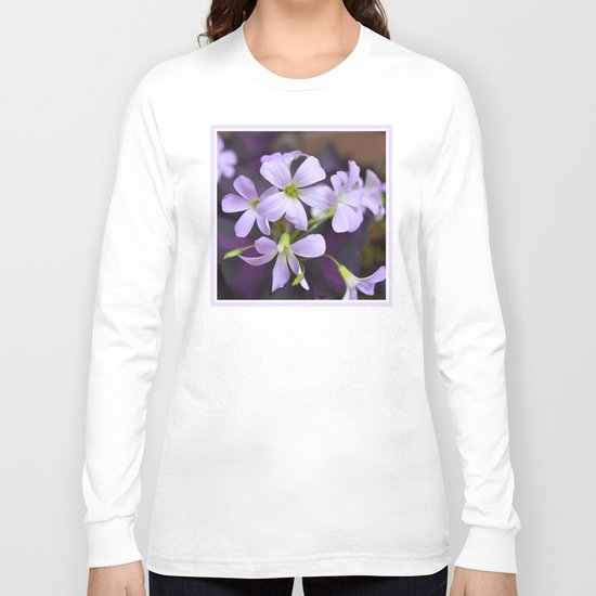 Flower | Flowers | Lavender Petals v2 Long Sleeve T-shirt