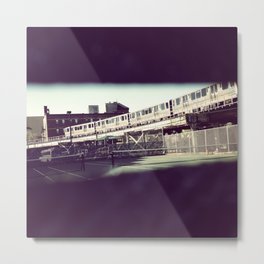 Chicago El Train Metal Print