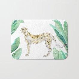 Cheetah in Jungle Bath Mat