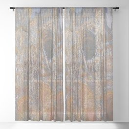 Claude Monet - Rouen Cathedral, Portal, Midday.jpg Sheer Curtain