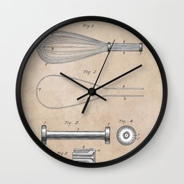 patent art Cook Egg Whipper 1896 Wall Clock